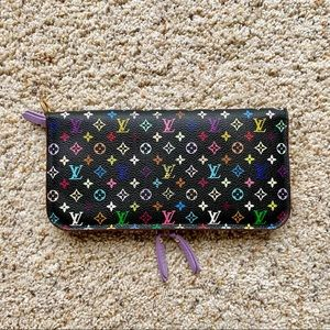 Louis Vuitton black multicolor isolite wallet